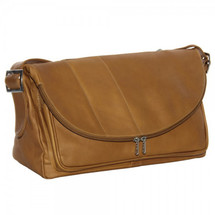 Piel Leather Cross Body Tote 2994 - Saddle