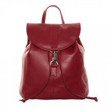Piel Leather Medium Drawstring Backpack 3019 - Red