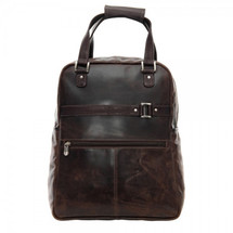 Piel Leather Vintage Laptop Carry-All/Convertible Backpack 3050 - Vintage Brown
