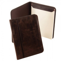 Piel Leather Vintage Letter-Size Padfolio 3080 - Vintage Brown