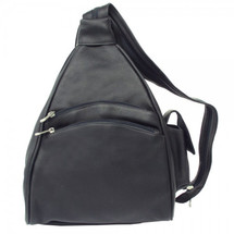 Piel Leather Two-Pocket Sling 9932 - Black