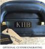 Edmond Leather Expandable Attache Case 9158 Engraving
