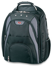 "Mancini Backpack for 17"" Laptop Computer 91870 - Black"
