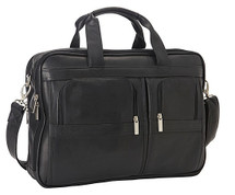 Edmond Leather Deluxe Business Briefcase EL-US411C Black