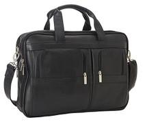 Edmond Leather Deluxe Business Briefcase EL-US411C Black