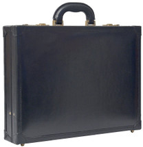 Maxwell Scott The Scanno Leather Attache Case Black
