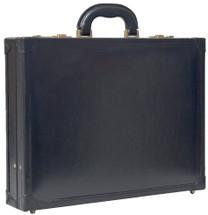 Maxwell Scott The Scanno Leather Attache Case Black