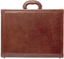 Maxwell Scott The Buroni Large Leather Attache Case