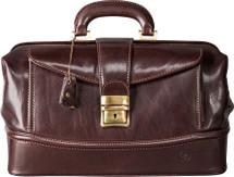 Maxwell Scott Donnini S Leather Attache Case Dark Brown