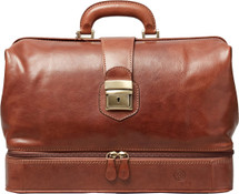 Maxwell Scott Donnini L Leather Medical Bag Tan