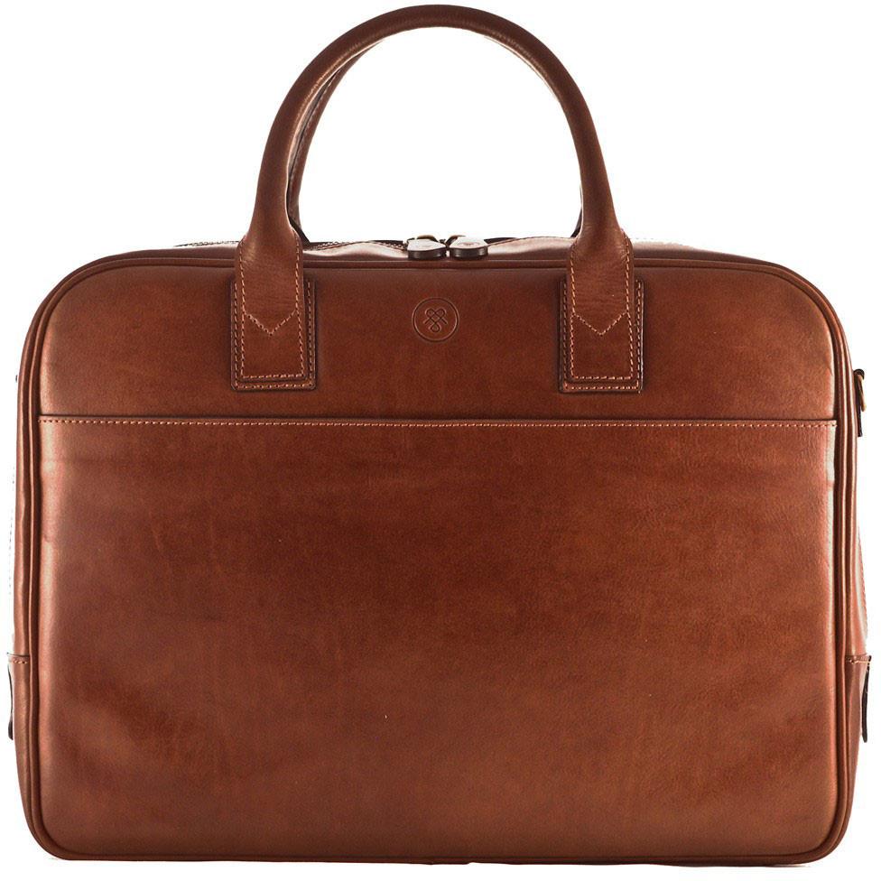 Maxwell Scott The Calvino Luxury Leather Business Case Laptop Bag ...