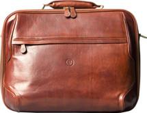 Maxwell Scott Volterra Men's Leather Laptop Bag Tan