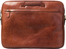 Maxwell Scott Tutti Leather Document Case Tan