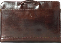 Maxwell Scott Barolo Leather Portfolio Dark Brown