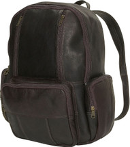 Edmond Leather Zip-Around Leather Backpack Chocolate