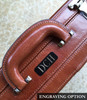 Edmond Leather Luxury Leather Attache Case (Engraved)