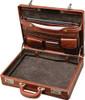 Edmond Leather Luxury Leather Attache Case (Open)