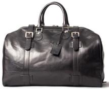Maxwell Scott FleroL Large Leather Duffel Bag Black
