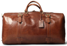 Maxwell Scott FleroL Extra Large Leather Duffel Bag Tan
