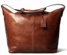 Maxwell Scott Fabrizio Leather Travel Bag Tan