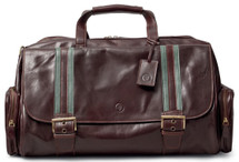 Maxwell Scott DinoM Medium Leather Duffel Bag Dark Brown
