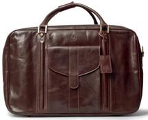 Maxwell Scott Maurizio Italian Leather Suitcase Dark Brown