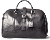 Maxwell Scott Farini Leather Holdall Carry On Black