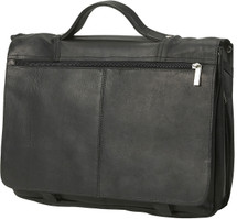 Edmond Leather Full Flap Expandable Leather Briefcase