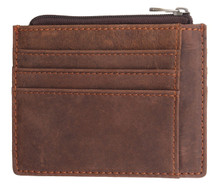 Pratt Leather Vintage Leather Thin Card Wallet