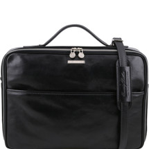 Tuscany Leather Vicenza Leather Briefcase (Black)