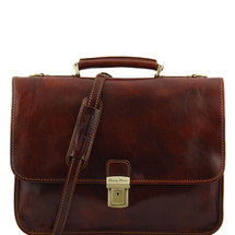 Tuscany Leather Torino Leather Briefcase (Brown)