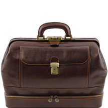 Tuscany Leather Giotto Leather Doctor Bag (Dark Brown)