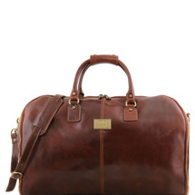 Tuscany Leather Antiqua Leather Garment Duffle Bag (Brown)