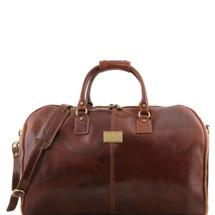 Tuscany Leather Antigua Leather Garment Duffle Bag (Brown)