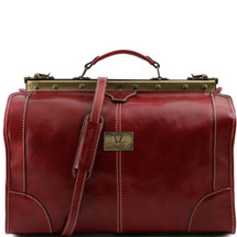 Tuscany Leather Madrid Leather Gladstone Bag (Small) (Red)