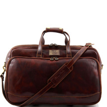 Tuscany Leather Bora Bora Leather Trolley Bag (Small) (Brown)