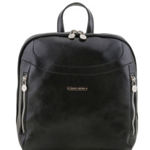 Tuscany Leather Manila Leather Backpack (Black)
