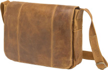 Edmond Leather Vintage Distressed Messenger Bag (Tan)
