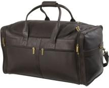 Edmond Leather Deluxe Cabin Bag (Chocolate)