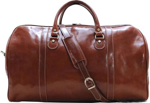 Buccio Asti Italian Leather Duffle Bag Carryon