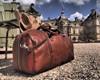 Buccio Asti Italian Leather Duffle Bag Carryon (Lifestyle)