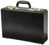 Edmond Leather Large Business Attache Case Attache (Black)
