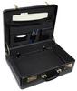 Edmond Leather Large Business Attache Case (Open)
