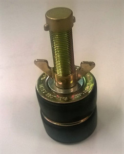 """Double Seal 75mm Steel Drain Test Plug with 1/2"""" outlet"""