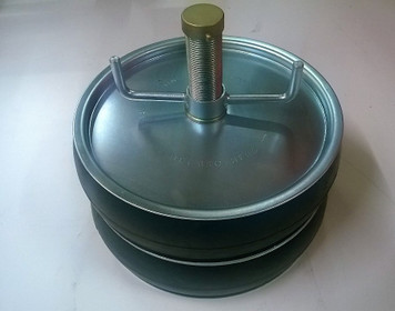"""Double Seal 200mm Steel Drain Test Plug with 1"""" outlet"""