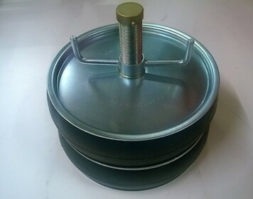 """Double Seal 250mm Steel Drain Test Plug with 1"""" outlet"""