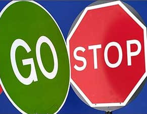 Stop/Go Lollipop Sign - 600mm (complete with bag)
