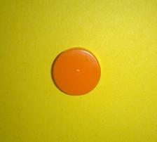 A single Orange burst disc