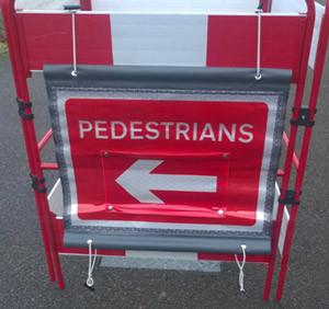 Pedestrian Direction Sign