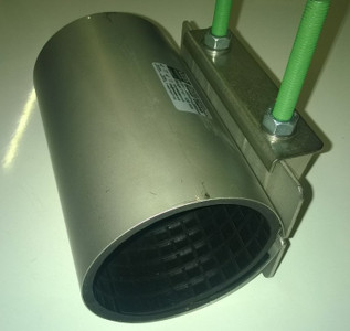 """Wraparound Clamp for 4"""" Steel & 100mm Ductile Iron (110mm to 120mm) Length 200mm"""